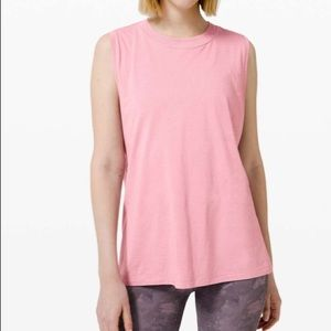 Lululemon All Yours Boyfriend Tank Pink Taupe 2